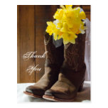 Country Daffodils Wedding Thank You Postcard