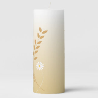 Country Daisies pillar candle