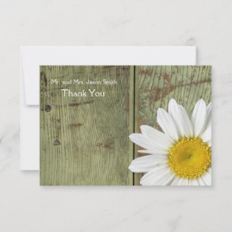 Country Daisy and Barn Wood flat thank you