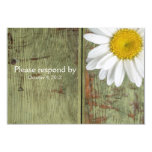 Country Daisy and Barn Wood RSVP with envelope Announcement