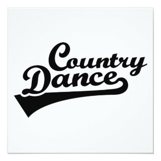 Country dance card