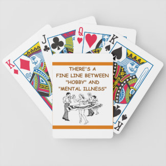country dancing bicycle playing cards
