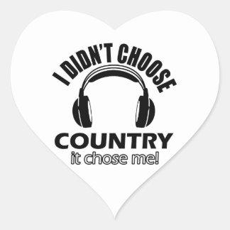 Country designs heart sticker