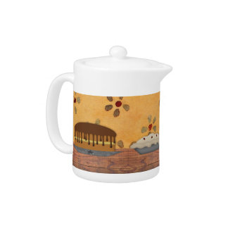 Country Desserts Teapot