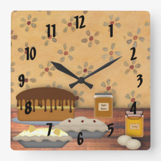 Country Desserts Wall Clock
