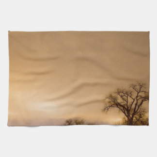 Country Dirt Road Into The Storm Kitchen Towels