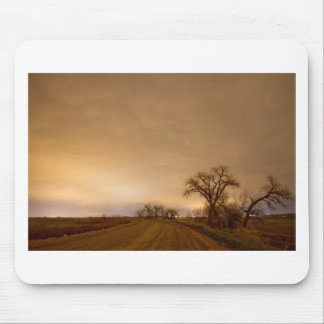 Country Dirt Road Into The Storm Mouse Pads