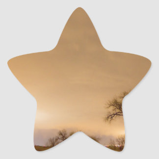 Country Dirt Road Into The Storm Star Sticker