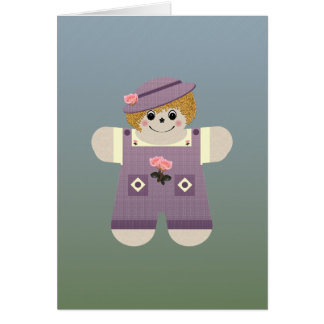Country Doll ~ Purple Card