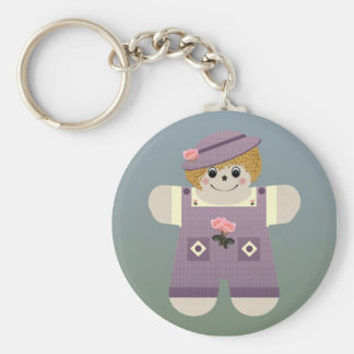 Country Doll ~ Purple Keychains