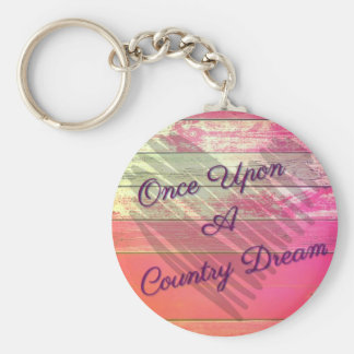 """Country Dream"" button keychain"