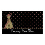 Country Dressed Brown Dog Business Cards