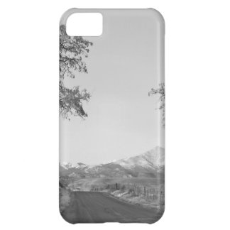 Country Drive Longs Peak View BW iPhone 5C Case