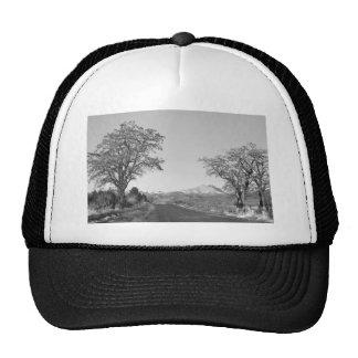Country Drive Longs Peak View BW Trucker Hat