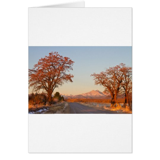 Country Drive Longs Peak View Card
