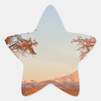 Country Drive Longs Peak View Star Sticker