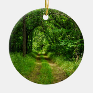 Country Driveway Ceramic Ornament