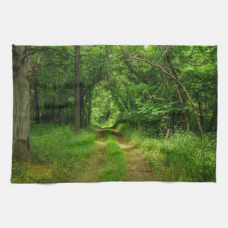 Country Driveway Kitchen Towel