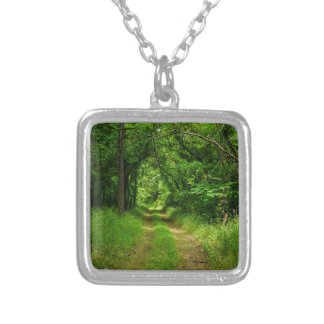 Country Driveway Silver Plated Necklace