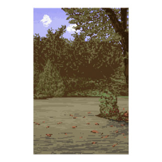 country driveway customized stationery