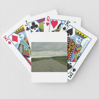 Country Driving - Long Road - Green Grass Bicycle Playing Cards