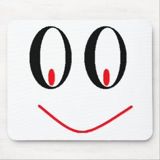 Country Drunken Eyes With A Smirking Smile Mouse Pad