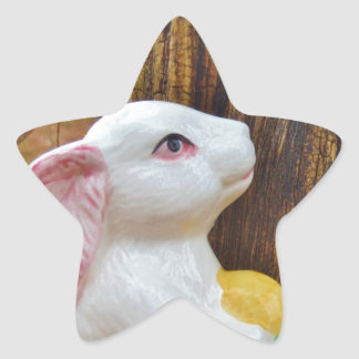Country Easter Bunny Sticker