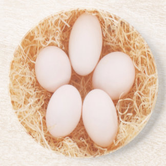 Country Eggs Nesting Sandstone Drink Coaster