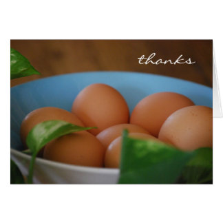 Country Eggs Thank You Card