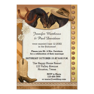 Country Elope or Post Wedding Party Invitation