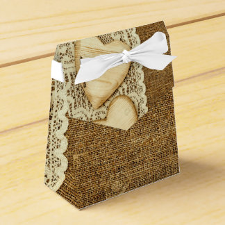 COUNTRY EVENT - HEARTS AND NATURAL EARTH TONES FAVOR BOX