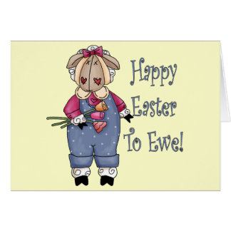 Country Ewe Easter T shirts and Gifts Card