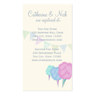 Country Fair and Cotton Candy Registry Card Double-Sided Standard Business Cards (Pack Of 100)