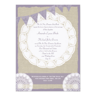 Country Fair Burlap and Lace Card