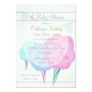 Country Fair Cotton Candy Baby Shower 5x7 Paper Invitation Card