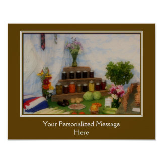 Country Fair Preserves Prize Personalized Poster