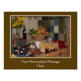 Country Fair Produce Prize Personalized Poster