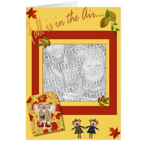 COUNTRY FALL GREETING CARD