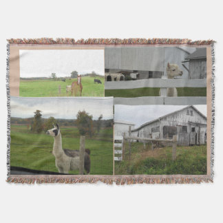 COUNTRY FARM ANIMAL PHOTO THROW BLANKET