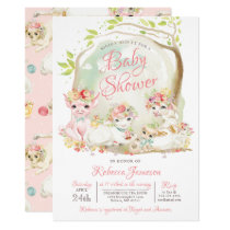 Country Farm Animals Baby Shower Invitation