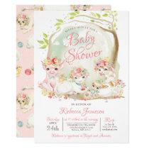 Country Farm Animals Baby Shower Invitation