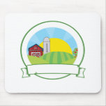 Country Farm Banner Mouse Pads