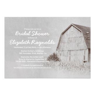 Country Farm Bridal Shower Invitations Announcement