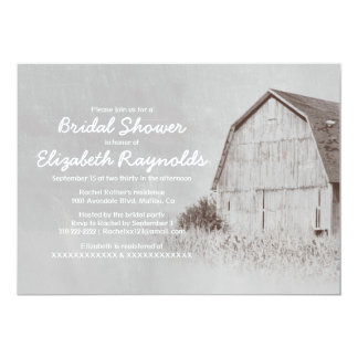 Country Farm Bridal Shower Invitations