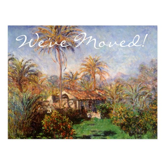 Country Farm by Claude Monet, Change of Address Postcard