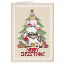 Country Farm Christmas Card