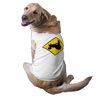 Country Farm Dog Tractor Road Sign Shirt