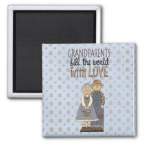 Country Farm Grandparents Love Fridge Magnet