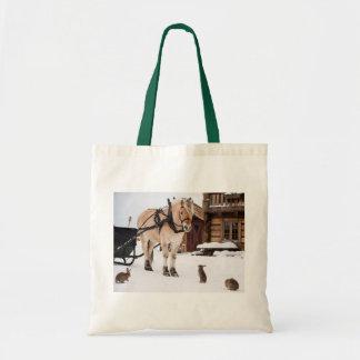 Country farm idyll animal talk friends tote bag