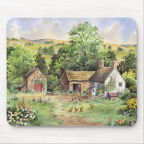 """Country Farm"" idyllic country landscape Mouse Pad"